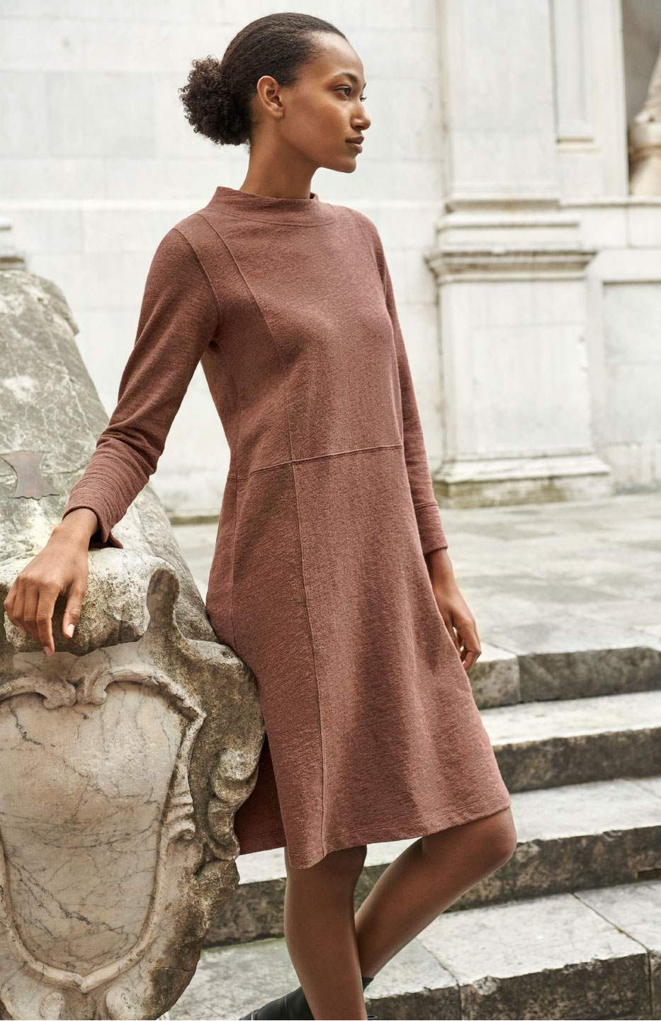 New peruvian cotton and alpaca jersey